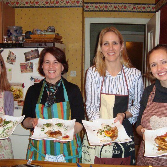 Team cooking cuisine assiettes bio