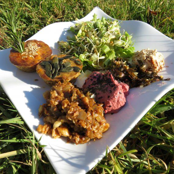 Formation cuisine bio assiette colorée