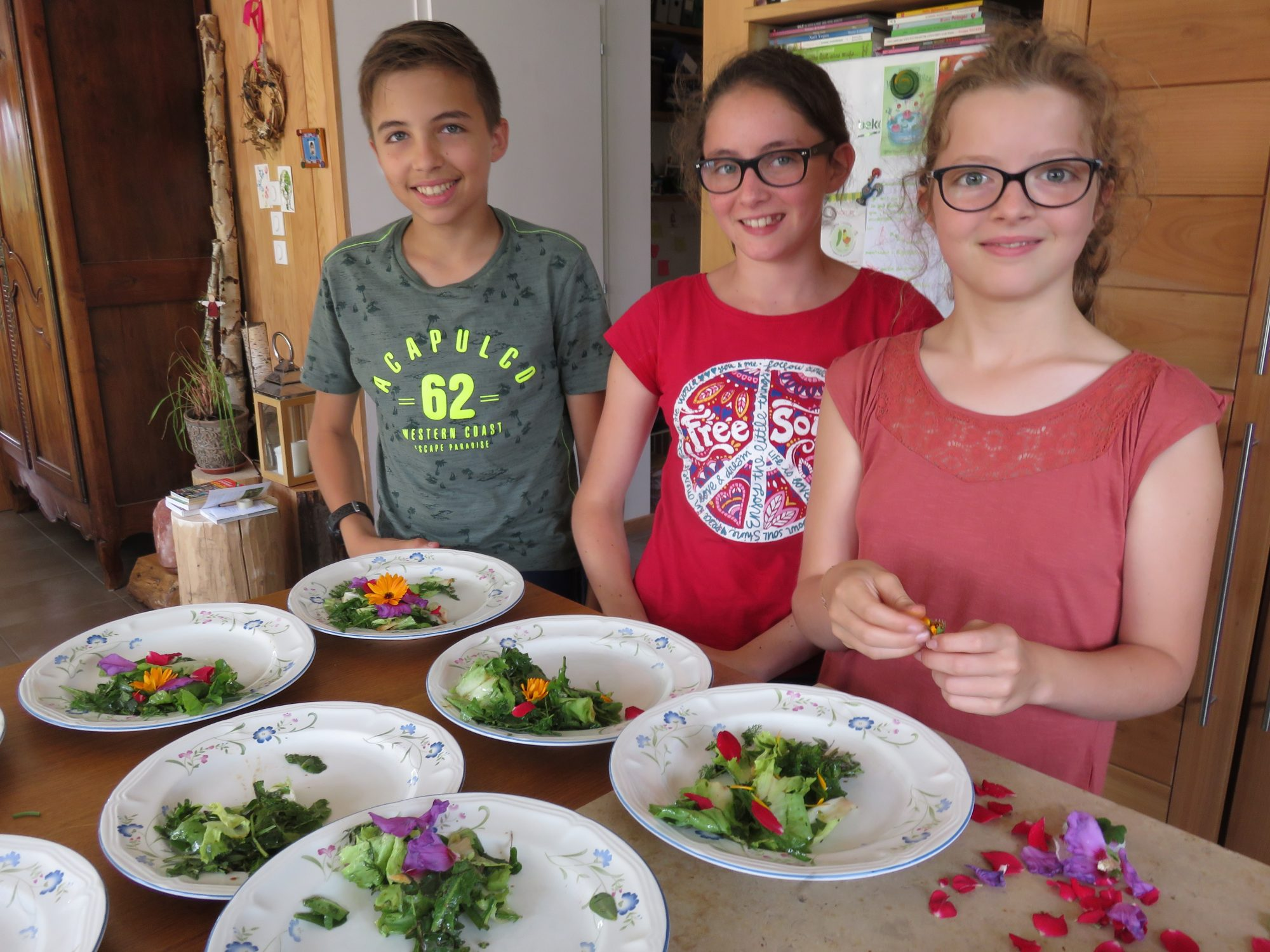 enfants cuisine plantes sauvages salades