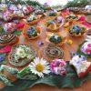 Alimentation vivante bio nature colorée fleurs